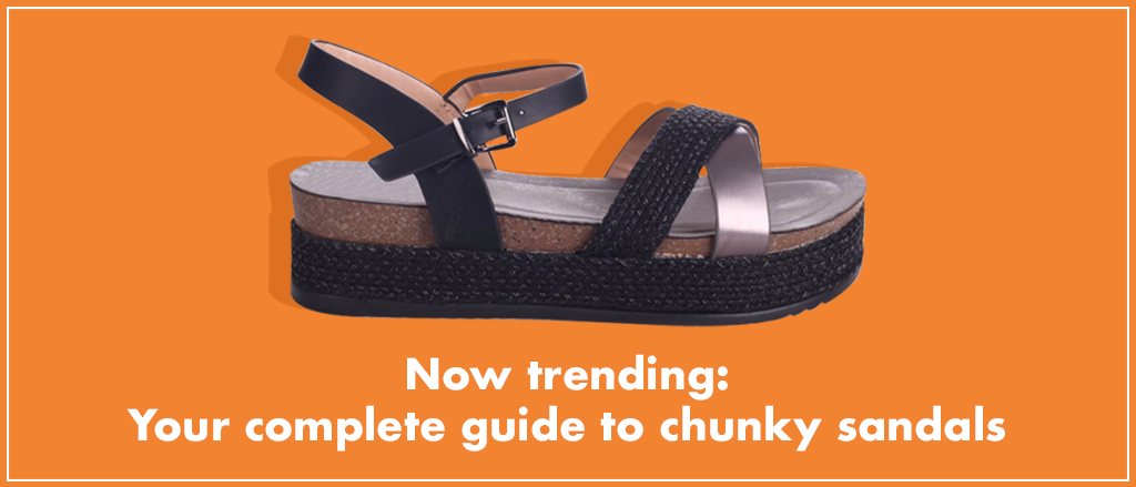 Chunky flat sandals with thick soles and bold straps are most definitely back in; keep reading to find out more.